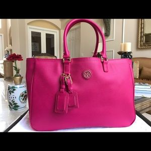 NEW TORY BURCH Large PINK SHOULDERBAG Handbag